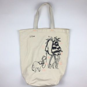 J. Crew Illustrated Tote (Winter Girls)